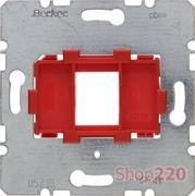 Опорная пластина для модулей Keystone с красной вставкой, одинарная, Berker 454001