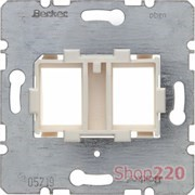 Опорная пластина для модулей Keystone с белой вставкой, двойная, Berker 454105