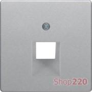 Накладка для компьютерной розетки, одинарная, алюминий, Q.х Berker 14076084