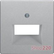 Накладка для компьютерной розетки, двойная, алюминий, Q.х Berker 14096084