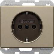 Розетка с заземлением, бронза, ARSYS Berker 47140001