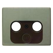 Накладка ТВ розеток на 2/3 отверстия, бронза, ARSYS Berker 12020021