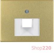 Накладка для компьютерной розетки, золото, ARSYS Berker 14080002