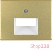 Накладка для двойной компьютерной розетки, золото, ARSYS Berker 14100002