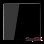 Клавиша одинарная, черный, пластик, Jung LS990SW