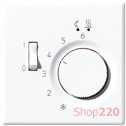 Накладка терморегулятора, белый, пластик, Jung LSFTR231PLWW