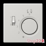 Накладка терморегулятора, светло-серый, пластик, Jung LSFTR231PLLG