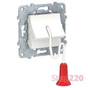 Выключатель с веревкой, белый, 2 модуля, Unica New Schneider NU522618