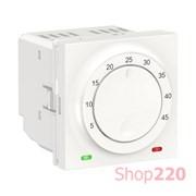 Термостат теплого пола, белый, 2 модуля, Unica New Schneider NU350318