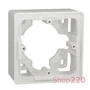 Коробка для открытой установки 1-пост Studio, белый, Unica New Schneider NU800218