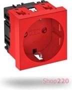 Розетка 220В модульная 45х45, красный, 6120014 Obo Bettermann