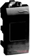 Розетка компьютерная RJ45 экранированная, 1мод., черный, Brava ДКС 77457N