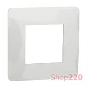 Рамка 1-постовая, белый, Unica New Schneider NU200218