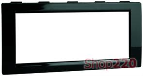 Рамка на 4 модуля для колонн ДКС, черный, F00013B Barva