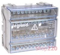 Кросс-модуль на din-рейку 125А, 4 полюса, Legrand 004886