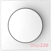 Накладка диммера поворотного, белый лотос, Merten MTN5250-6035