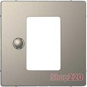 Накладка терморегулятора, никель (металл), Merten MTN5775-6050