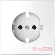 Накладка розетки электрической со шторками, белый лотос, Merten MTN2330-6035