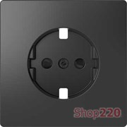 Накладка розетки электрической со шторками, антрацит, Merten MTN2330-6034