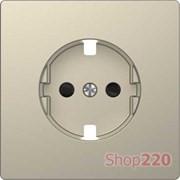 Накладка розетки электрической со шторками, сахара, Merten MTN2330-6033