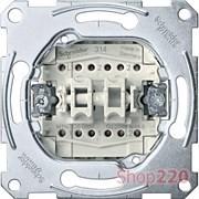 Выключатель проходной 2-клавишный, Merten MTN3126-0000