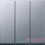 Клавиша тройная, алюминий, Merten MTN311960
