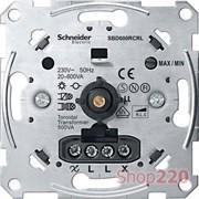 Диммер для ламп накаливания 600 Вт, поворотно-нажимной, Merten MTN5139-0000
