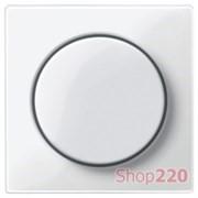 Накладка диммера поворотного, полярно-белый, Merten MTN5250-0319