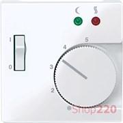 Накладка терморегулятора, активный белый, Merten MTN534925