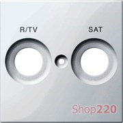 Накладка телевизионной двойной розетки TV/R+SAT, полярно-белый, Merten MTN299819