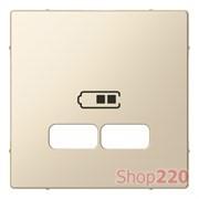 Накладка USB розетки, бежевый, Merten MTN4367-0344