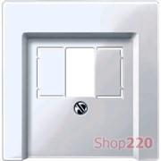 Накладка аудио розетки, активный белый, Merten MTN296025