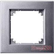 Рамка 1 пост, алюминий, Merten M-PLAN MTN486160