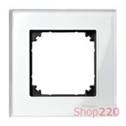 Рамка 1 пост, белый бриллиант, Merten M-Elegance Стекло MTN404119