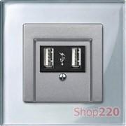 Рамка 1 пост, серебряный бриллиант, Merten M-Elegance Стекло MTN4010-3260