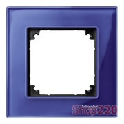 Рамка 1 пост, синий сапфир, Merten M-Elegance Стекло MTN4010-3278
