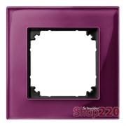 Рамка 1 пост, красный рубин, Merten M-Elegance Стекло MTN4010-3206