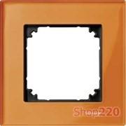 Рамка 1 пост, оранжевый кальцит, Merten M-Elegance Стекло MTN404102