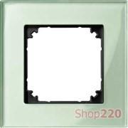 Рамка 1 пост, зеленый изумруд, Merten M-Elegance Стекло MTN404104