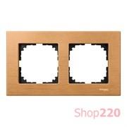 Рамка 2 поста, бук, Merten M-Elegance Дерево MTN4052-3470