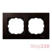 Рамка 2 поста, венге, Merten M-Elegance Дерево MTN4052-3471