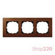 Рамка 3 поста, вишня, Merten M-Elegance Дерево MTN4053-3472