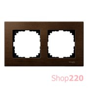 Рамка 2 поста, орех, Merten M-Elegance Дерево MTN4052-3473