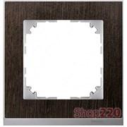 Рамка 1 пост, венге/алюминий, Merten M-Pure MTN4010-3671