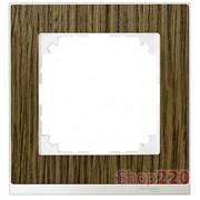 Рамка 1 пост, дуб/белый, Merten M-Pure MTN4010-3674