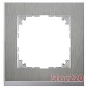 Рамка 1 пост, сталь/алюминий, Merten M-Pure MTN4010-3646