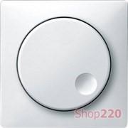 Накладка диммера поворотного, белый, Merten MTN5250-4019