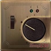 Накладка терморегулятора, античная латунь, Merten MTN537543