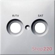 Накладка телевизионной двойной розетки TV/R+SAT, белый, Merten MTN299619