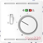 Терморегулятор для теплого пола с датчиком, белый лотос, Merten MTN5764-6035